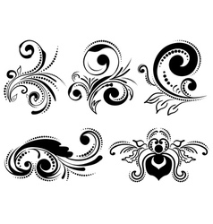 Vintage Floral Ornaments vector image vector image