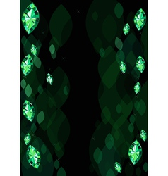 Abstract Background With Emeralds vector image vector image