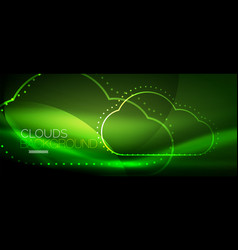cloud computing storage concept vector image vector image