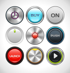 Round Buttons Set vector image vector image