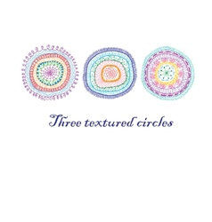 Three doodle circles background vector image vector image