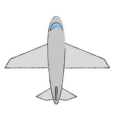 Airplane topview icon image vector