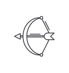 archer line icon concept archer linear vector image