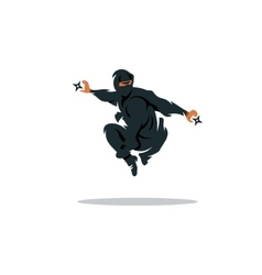 Asian Ninja Cartoon Asia vector image