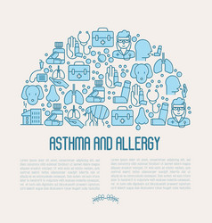 asthma and allergy concept for web page banner vector image