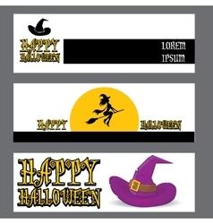 Banner halloween design template vector