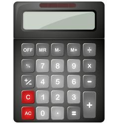 Black calculator with solar cell vector