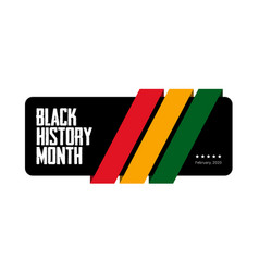 black history month green yellow and red stripes vector image