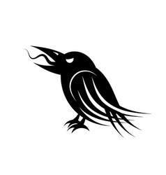 black raven bird vector image