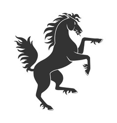 Black Rearing Horse vector