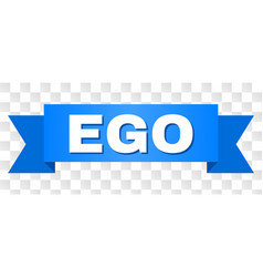Blue ribbon with ego title vector