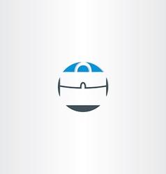 Briefcase icon design element vector