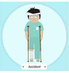 broken legs vector image