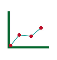 business graph with arrow abstract of financial vector image