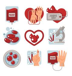 Charity and life saving vector