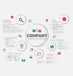 Company infographic profile design template vector