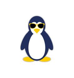 cool penguin mascot character symbol design vector image