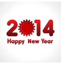 Creative new year2014 with gear stock vector image