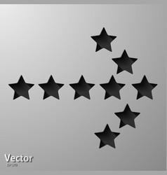 Curved arrow icons vector
