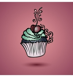 Decorative Ornate Cake vector image