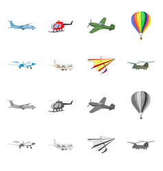design of plane and transport symbol vector image