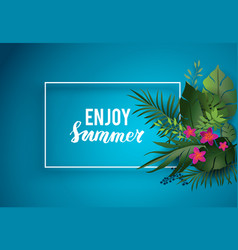 enjoy summer card vector image