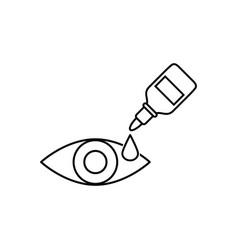 Eye drop icon eye drop bottle vector