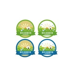 Farm logo labels and designs vector image