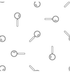 find solution magnify glass pattern seamless vector image
