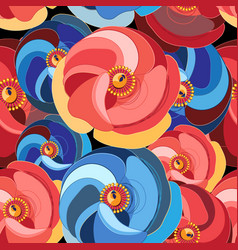 Flower with multicolored petals vector