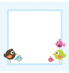 frame with funny birds vector image