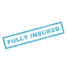 Fully Insublue Rubber Stamp vector