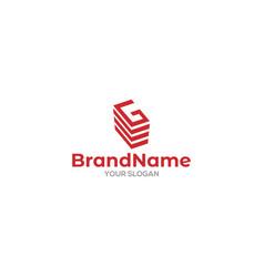 G building logo design vector