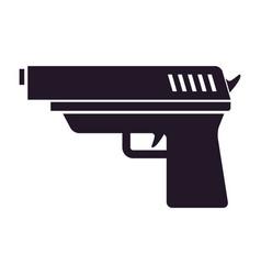 gun black icon vector image