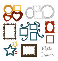 Hand drawn photoframes vector