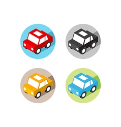 isometric car icon flat design vector image