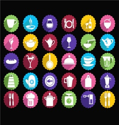 Kitchen set of tableware icons vector