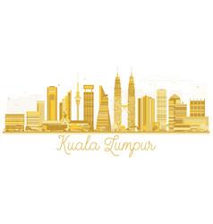 Kuala lumpur malaysia city skyline golden vector