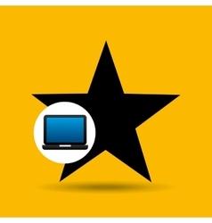 Laptop icon favorite social media vector