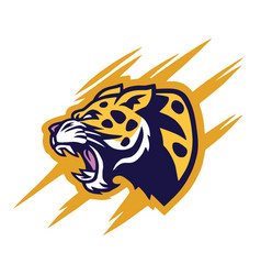leopard logo design vector image
