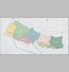 map of nepal vector image