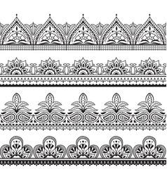 Mehndi indian design henna oriental seamless vector