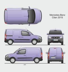 Mercedes citan 2015 l1 cargo van vector