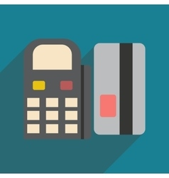 Modern flat icon with shadow bank card and the vector