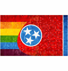 Mosaic tennessee and gay flags vector
