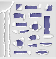 Paper lacerated ragged torn edges hole vector