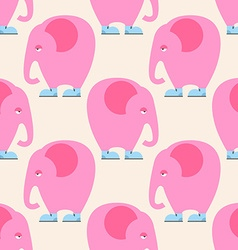 Pink Elephant seamless pattern Background of vector image