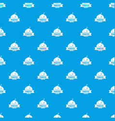 pirate bomb pattern seamless blue vector image