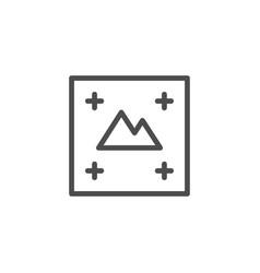 print concept line icon vector image