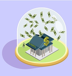 Protection of Bank bank Isometric Building vector image